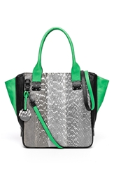 Hayden 'Margaux' Genuine Snakeskin And Leather Tote Black Multi