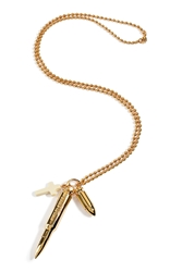 Emilio Pucci Gold Tone Charm Necklace