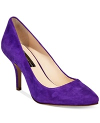 Inc International Concepts Women's Zitah Mid Heel Pumps Women's Shoes Winter Plum