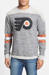 Red Jacket 'Philadelphia Flyers Preston' Long Sleeve French Terry T Shirt Grey