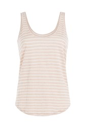 Paige Striped Linen Tank Top Gr. S