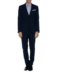 Grey Daniele Alessandrini Suits And Jackets Suits Men Dark Blue