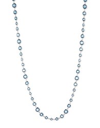 Anne Klein Faceted Stone Long Bead Necklace Blue
