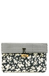 Maison Scotch Quilted Clutch Black Black White