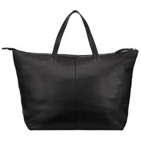 John Lewis Morgan Leather Tote Bag Black