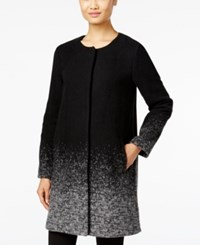 Eileen Fisher Ombre Wool Blend Coat Black
