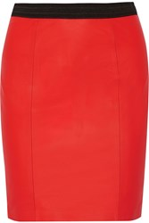Alexander Wang Leather Mini Skirt Red