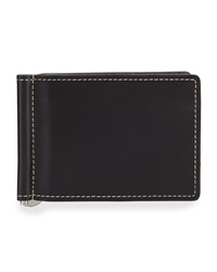 Neiman Marcus Boxed Bifold Leather Wallet Black Harness