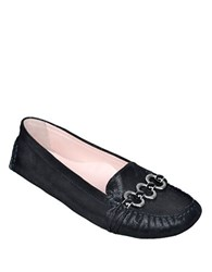 Taryn Rose Carmilla Patent Leather Loafers Black
