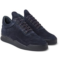 Filling Pieces Ghost Suede Sneakers Midnight Blue