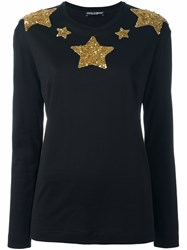 Dolce And Gabbana Star Sequinned Jumper Black