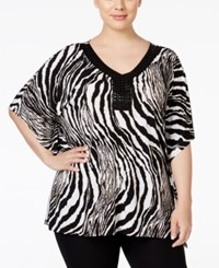 Jm Collection Plus Size Embellished Zebra Print Blouse Only At Macy's Spirit Animal
