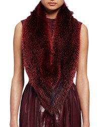 Lanvin Fox Fur Stole Burgundy
