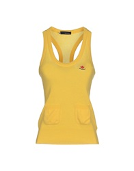 Dsquared2 Tank Tops Yellow