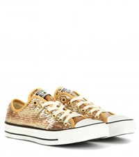 Converse Chuck Taylor All Star Sequin Sneakers Gold