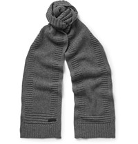 Belstaff Kameron Wool And Cashmere Blend Scarf Gray