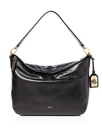 Ralph Lauren Medium Bramfield Callen Hobo Black Gold