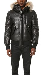 Mackage Glen Leather Bomber Black