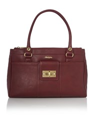 Ollie And Nic Bella Burgundy Medium Tote Burgundy