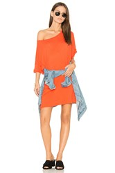Wildfox Couture T Shirt Dress Orange