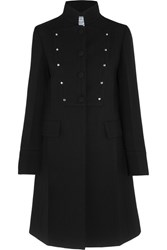 Prada Studded Wool Coat Black
