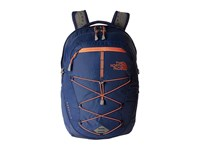 The North Face Women's Borealis Coastal Fjord Blue Feather Orange Backpack Bags
