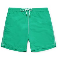 Hartford Mid Length Swim Shorts Bright Green