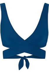 Karla Colletto Wrap Bikini Top Cobalt Blue