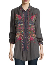 Johnny Was Talin Embroidered Blouse Petite
