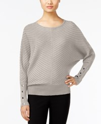 Alfani Dolman Sleeve Ribbed Sweater Only At Macy's Modern Metal