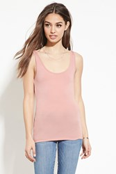 Forever 21 Stretch Knit Tank Dusty Pink