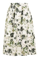 Floral Co Ord Pleated Midi By Wal G White