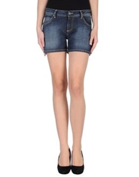 Franklin And Marshall Denim Shorts Blue