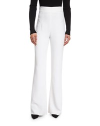 Cushnie Et Ochs High Waist Stretch Cady Pants Soft White