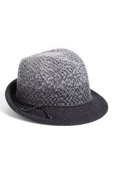 Women's Nordstrom Ombre Knit Fedora Black