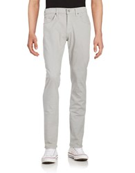 7 For All Mankind Straight Leg Cotton Blend Pants Grey