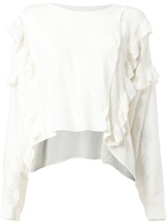 Faith Connexion Ruffled Loose Fit Blouse White