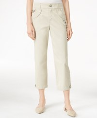 Styleandco. Style Co. Petite Studded Cropped Capri Pants Only At Macy's Stone Wall