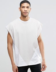 Asos Super Oversized T Shirt With Contrast Triangle White World