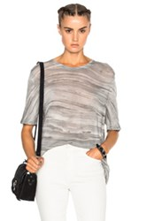 Raquel Allegra Boxy Tee In Gray Ombre And Tie Dye Gray Ombre And Tie Dye