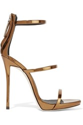 Giuseppe Zanotti Harmony Metallic Leather Sandals Bronze