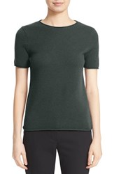 Theory Women's 'Tolleree' Short Sleeve Cashmere Pullover Cypress