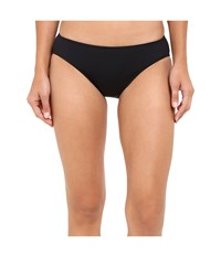 Lauren Ralph Lauren Chevron Solid Hipster Bottom Black Women's Swimwear