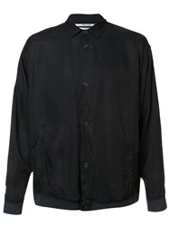 Robert Geller 'The Cupro' Shirt Jacket Black