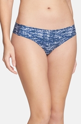 Halogen 'No Show' Thong 3 For 30 Navy Static