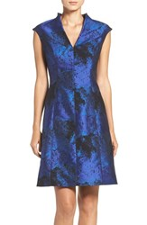Maggy London Women's Jacquard Fit And Flare Dress