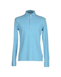 Gran Sasso Topwear Polo Shirts Men Sky Blue