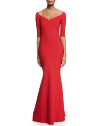 La Petite Robe Di Chiara Boni Kimmy Half Sleeve Mermaid Gown