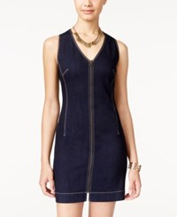 American Rag Zipper Front Denim Bodycon Dress Only At Macy's Denim Rinse