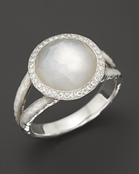 Ippolita Sterling Silver Stella Ring In Mother Of Pearl With Diamonds Multi